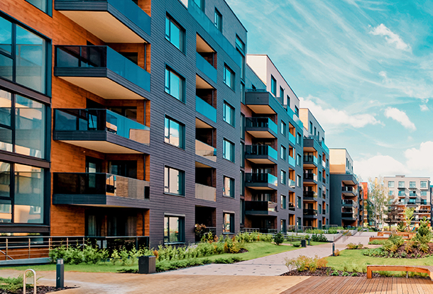 photo: modern low rise housing (iStockphoto)