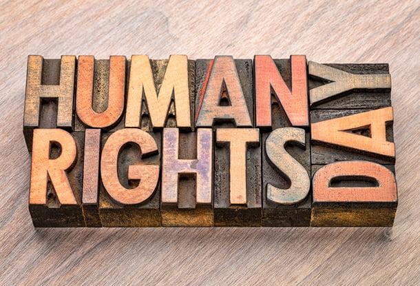 "Wooden blocks spelling ""Human Rights Day"" (iStockphoto)"