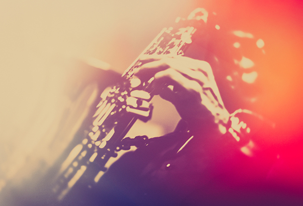 Styled photo of Jazz saxophonist (iStockphoto)