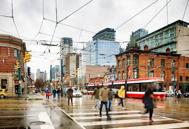 photo: gritty street corner in Toronto (iStockphoto)