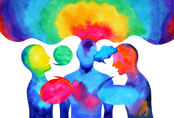 image: watercolour of people in heated discussion (iStockphoto)