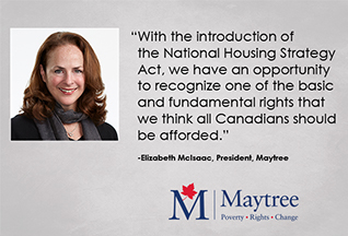 Strengthening the National Housing Strategy Act to clearly recognize housing as a human right