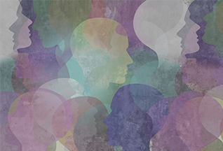 Abstract collage of profile heads (iStockphoto)