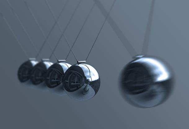 photo: pendulum desk toy (iStockphoto)