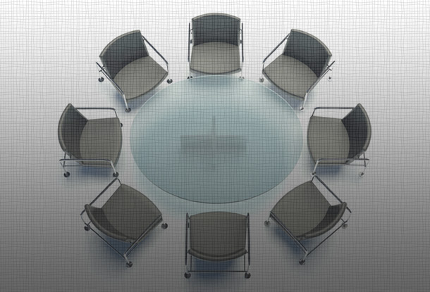 Table with chairs in circle (iStockphoto)