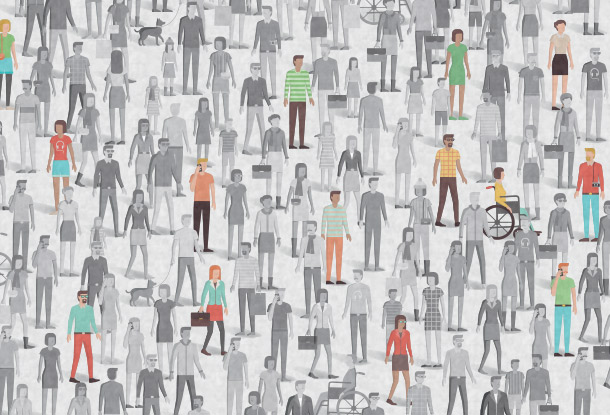 Image: People in a crowd (iStockphoto)