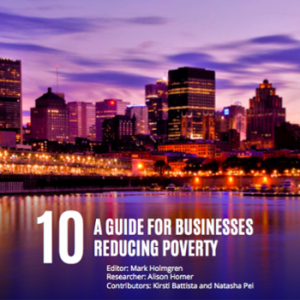 Cover of publication 10: A Guide for Businesses Reducing Poverty