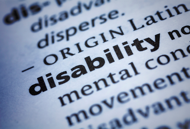 """photo: dictionary page showing definition of the word """"disability"""" (iStockphoto)"""