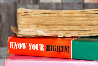 """photo: book called """"know your rights!"""" (iStockphoto)"""